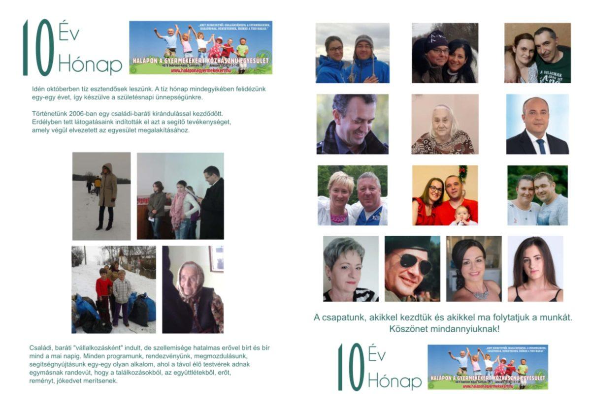 """""""10ÉV10HÓNAP"""" 10éves az egyesület 2021. októberében"""